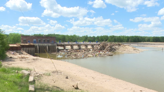 Sanford Dam in July 2020