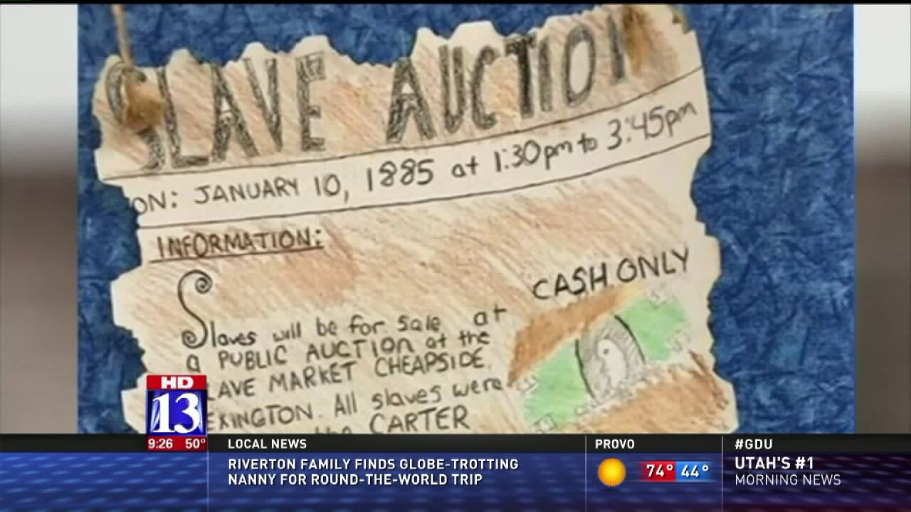 School apologizes after fifth-graders asked to make 'slave auction' posters