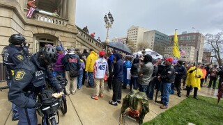 State Capitol American Patriot Rally Lansing