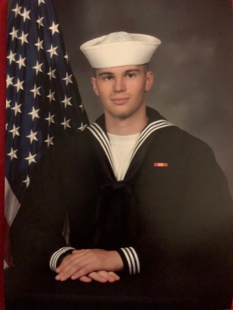 Allen Manley, US Navy.  Serving on the his first tour on the USS Abraham Lincoln