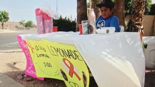Braden Palacios sells lemonade for cousin with leukemia