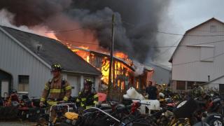 Maibach Saw Shop Wayne County fire
