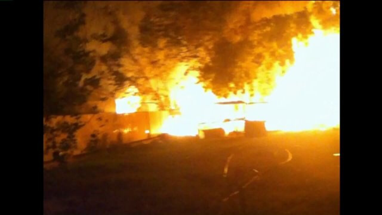 Family mourns loss of beloved animals after barn engulfed inflames
