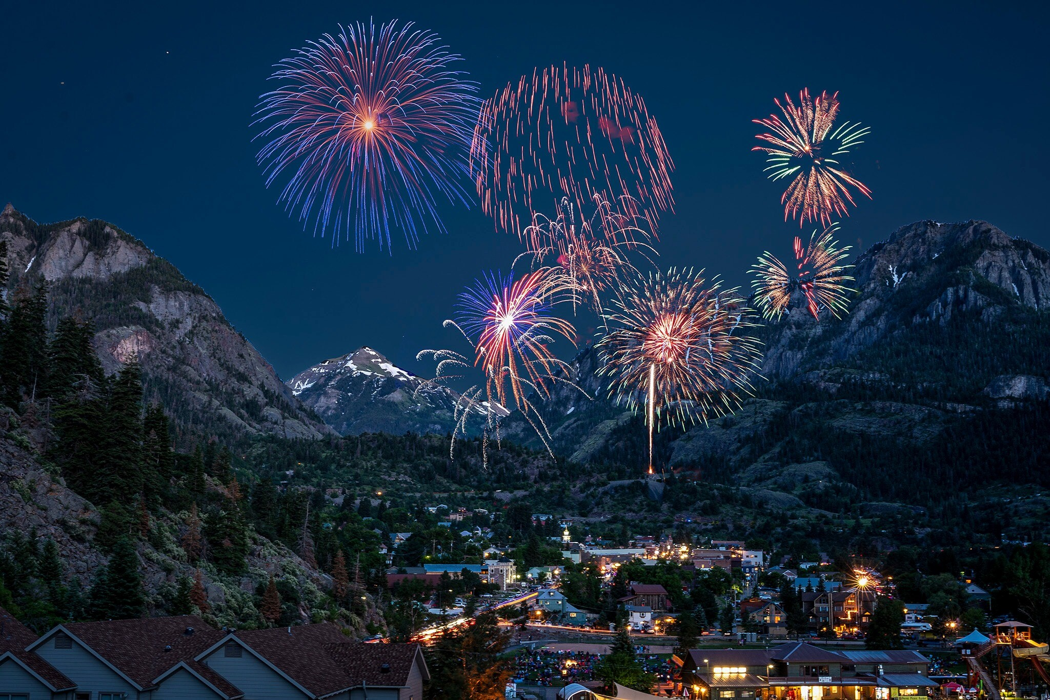 Ouray, Colorado fireworks