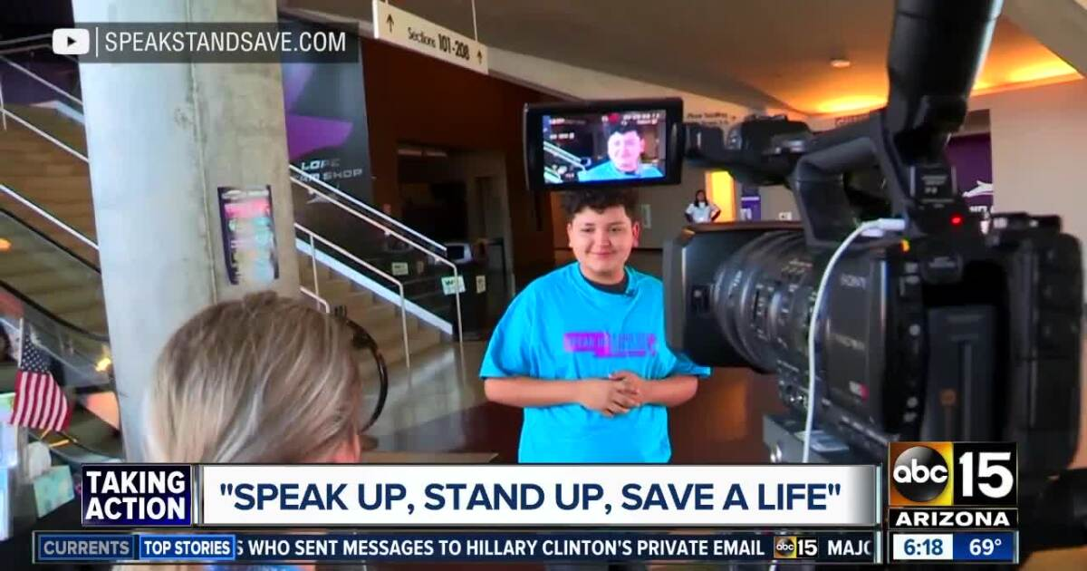 """Movement teaching AZ students to """"Speak Up, Stand Up, Save a Life"""""""
