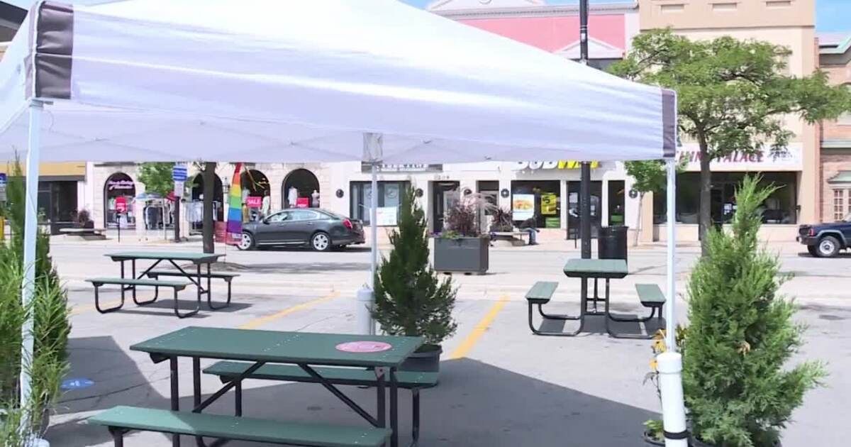Outdoor Downtown Dining Room added to help local restaurants
