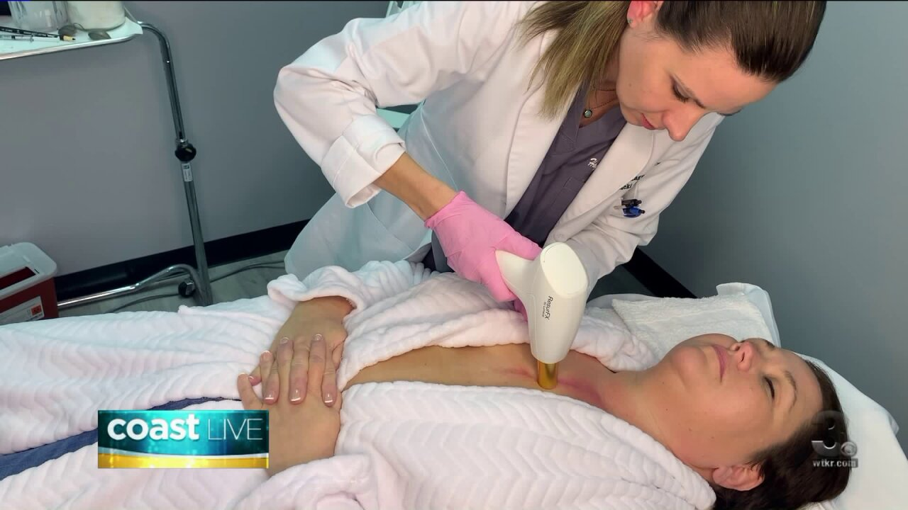 Learning about laser skin treatments on Coast Live