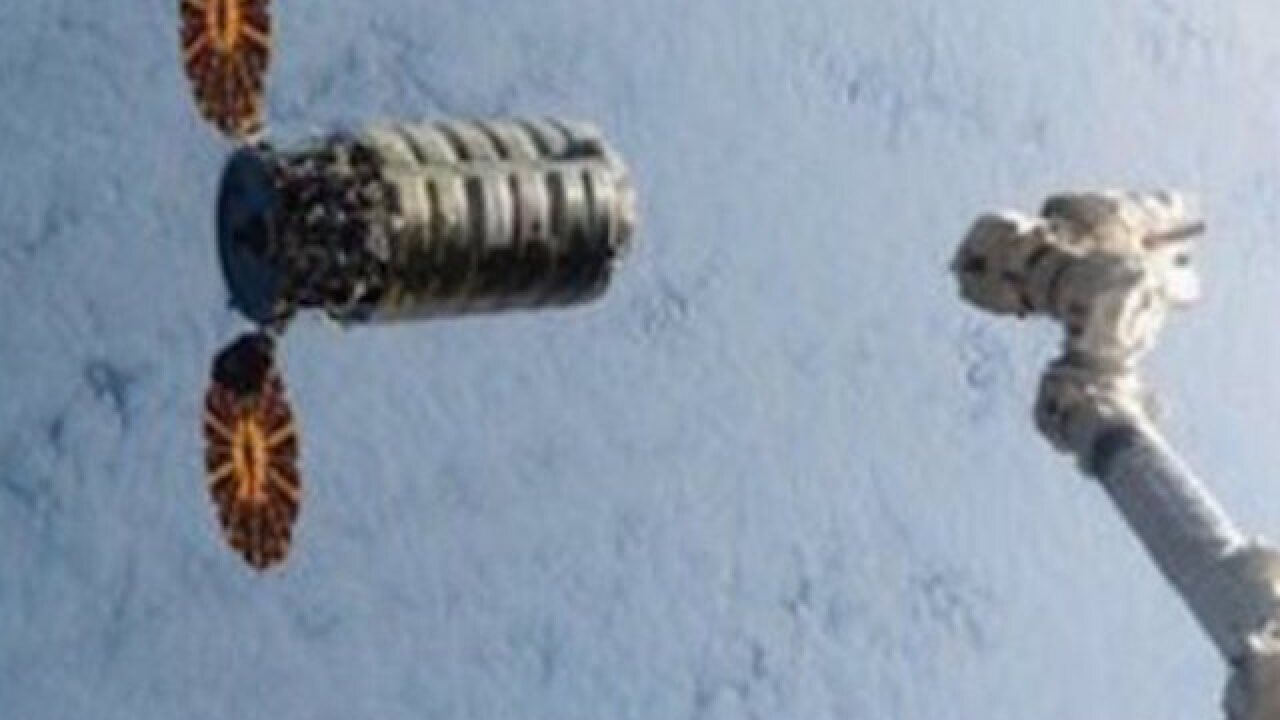 Cargo ship arrives at space station