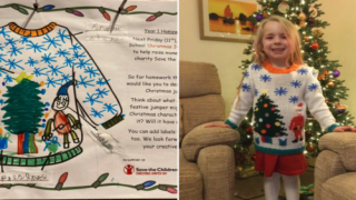 Grandmother Knitted A Holiday Sweater Her Granddaughter Designed Herself