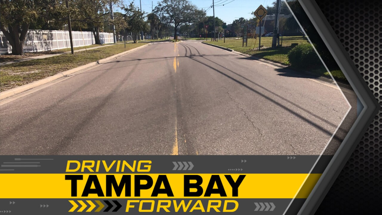 Road re-striping