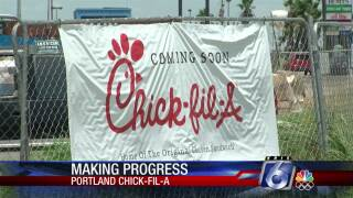 Chick-fil-A opening in Portland on Thursday