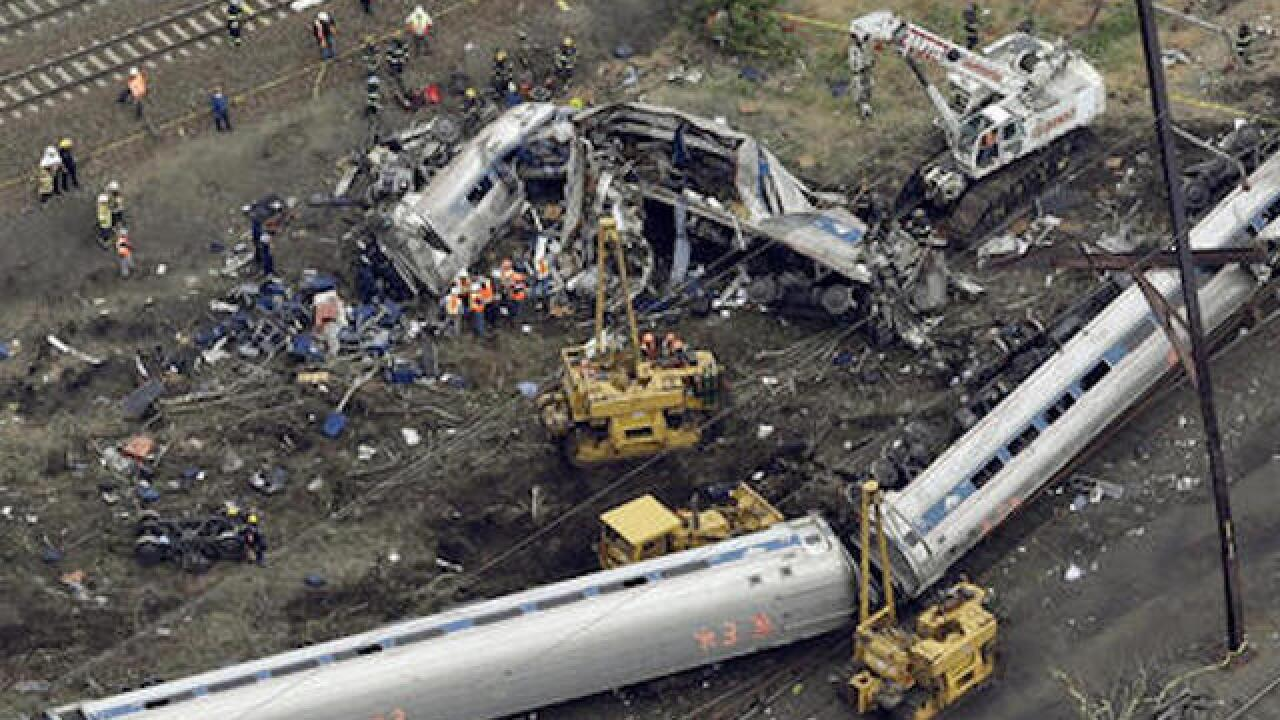 Feds: Amtrak crash impacted by rock incident