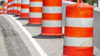 Barrels generic file photo road construction projects lane closure