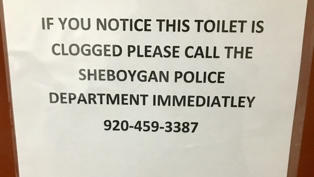 Sheboygan Police looking for bathroom vandal