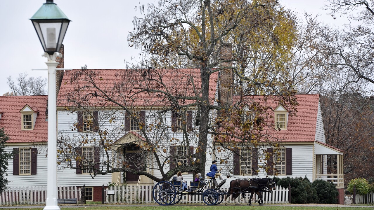 Guests 50+ pay for a day and get unlimited Colonial Williamsburg visits through December