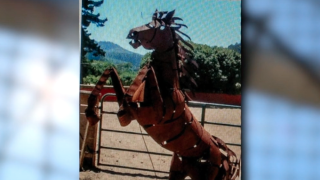 Stolen horse statue recovered