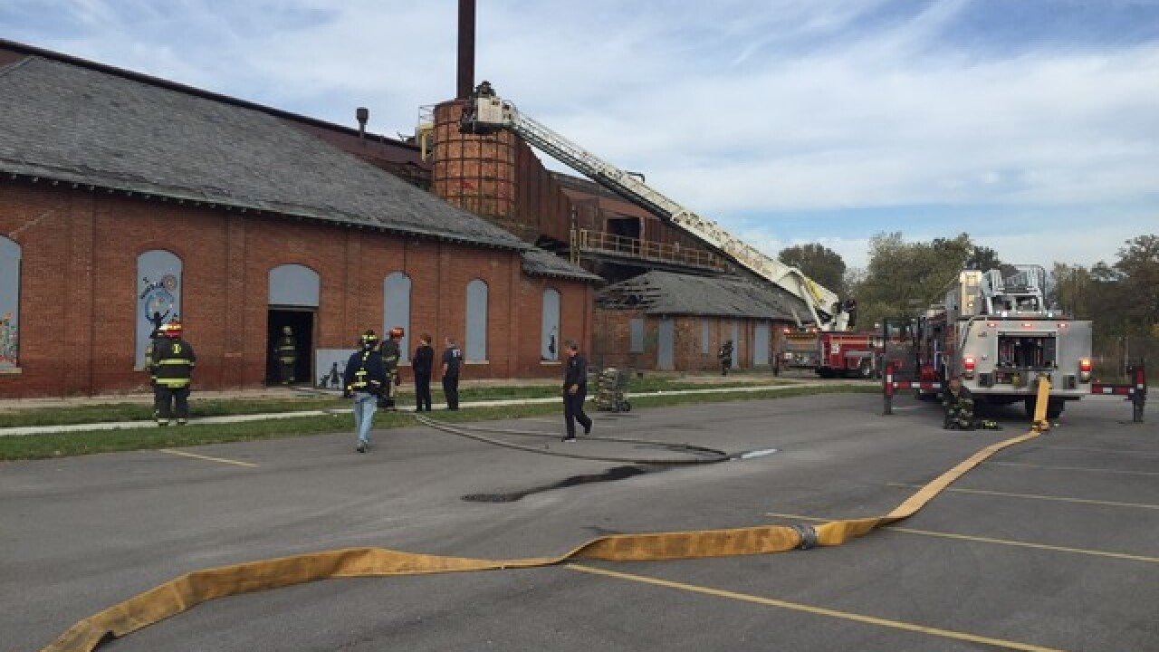 Fire breaks out at old Central State Hospital