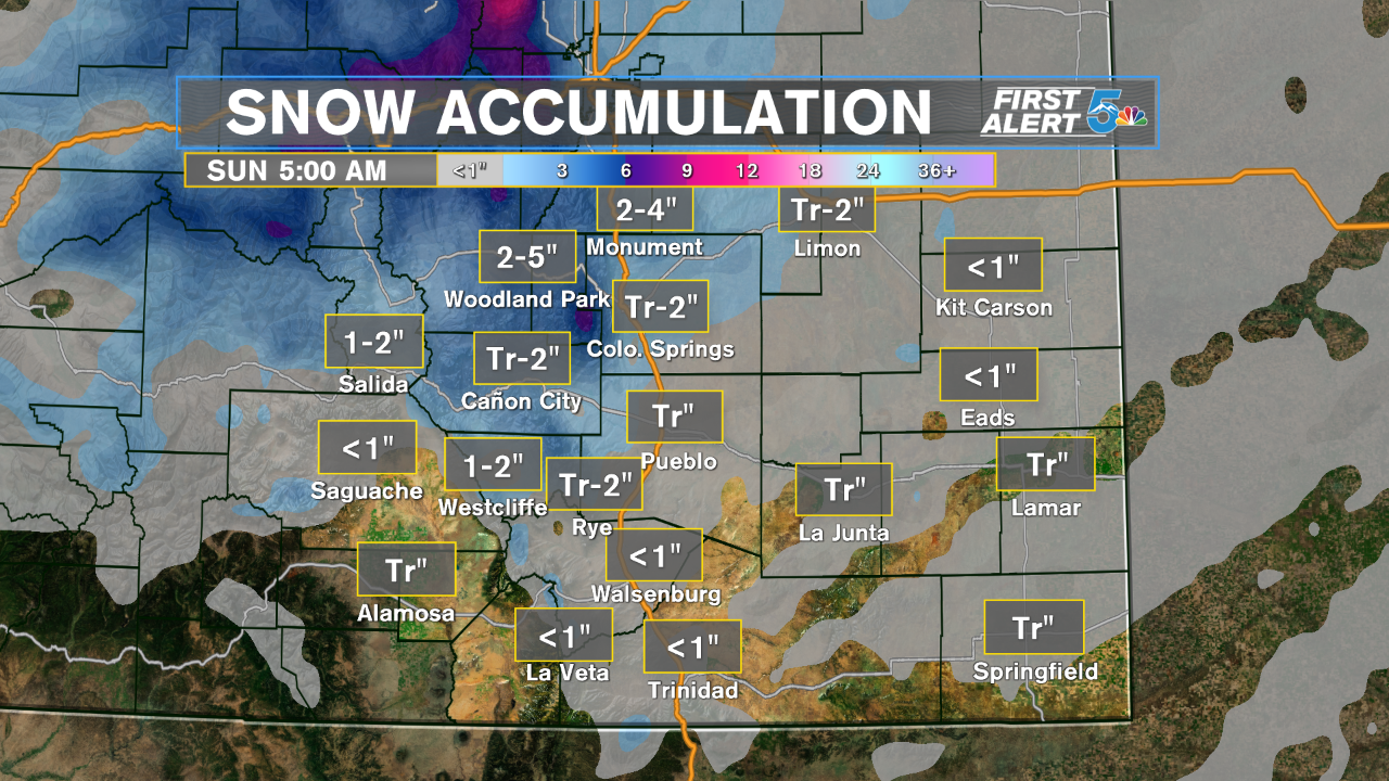 Statewide snow accumulation