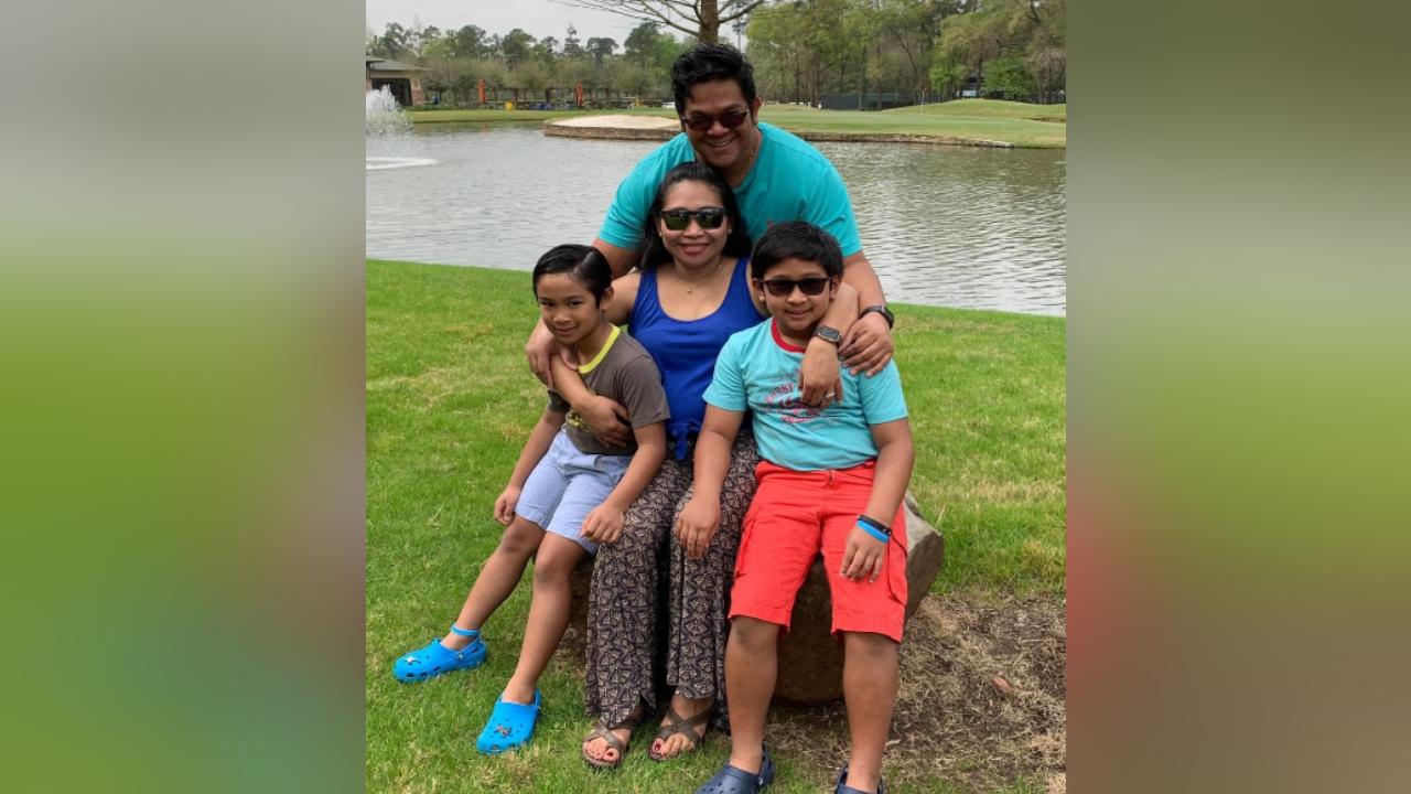 Jason Garcia and his family