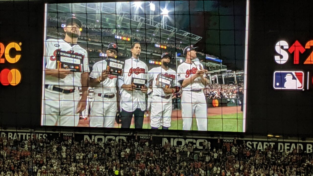 MLB pitcher Carlos Carrasco honored during All-Star Game after leukemia diagnosis