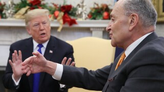 Chuck Schumer and President Trump