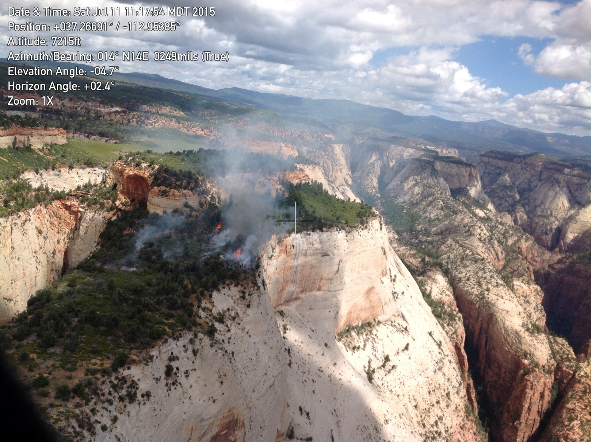 Photos: Lightning sparks wildfire in Zion National Park causing temporary trail closures