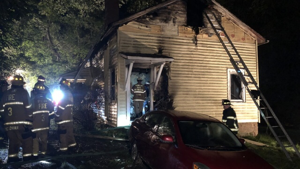 No one injured in house fire in Fallston