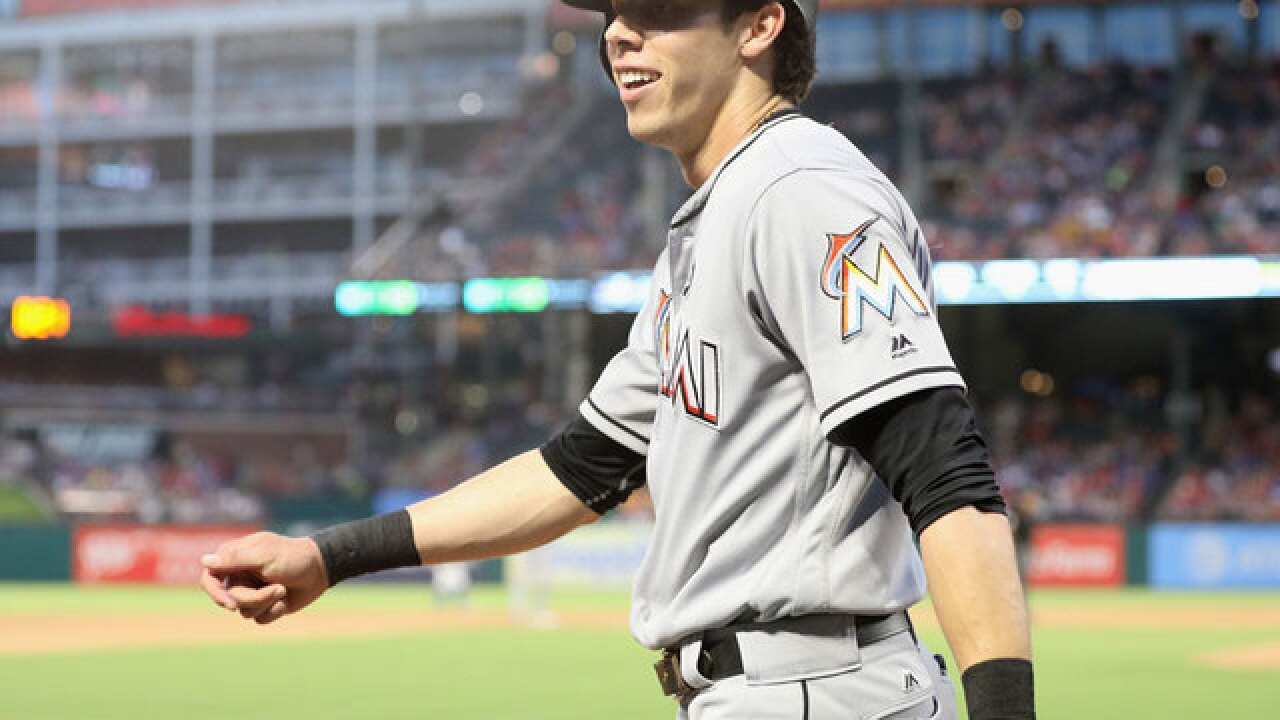 Miami Marlins' Christian Yelich traded to Brewers for 4 prospects