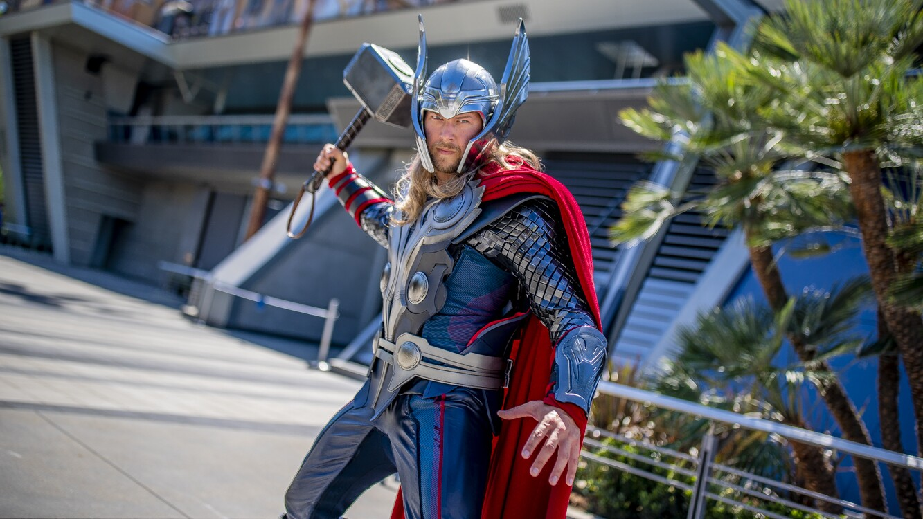Thor at Avengers Campus