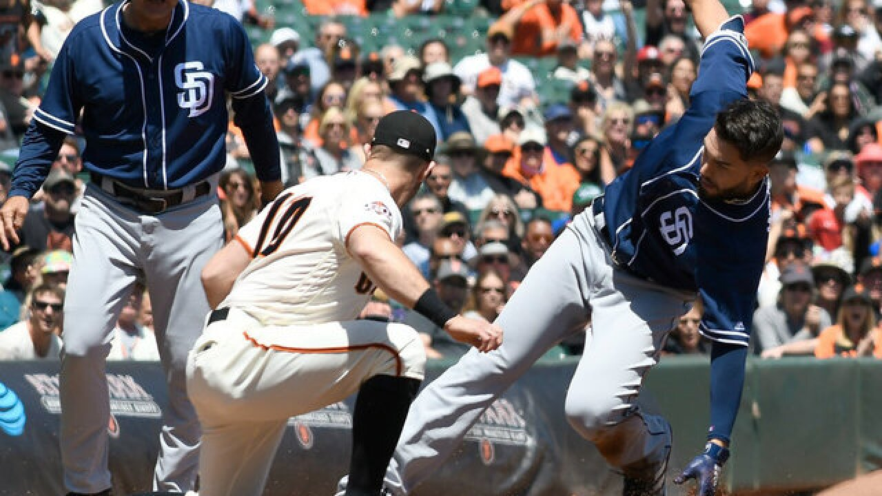 Giants down Padres 9-4 to win 3-game series
