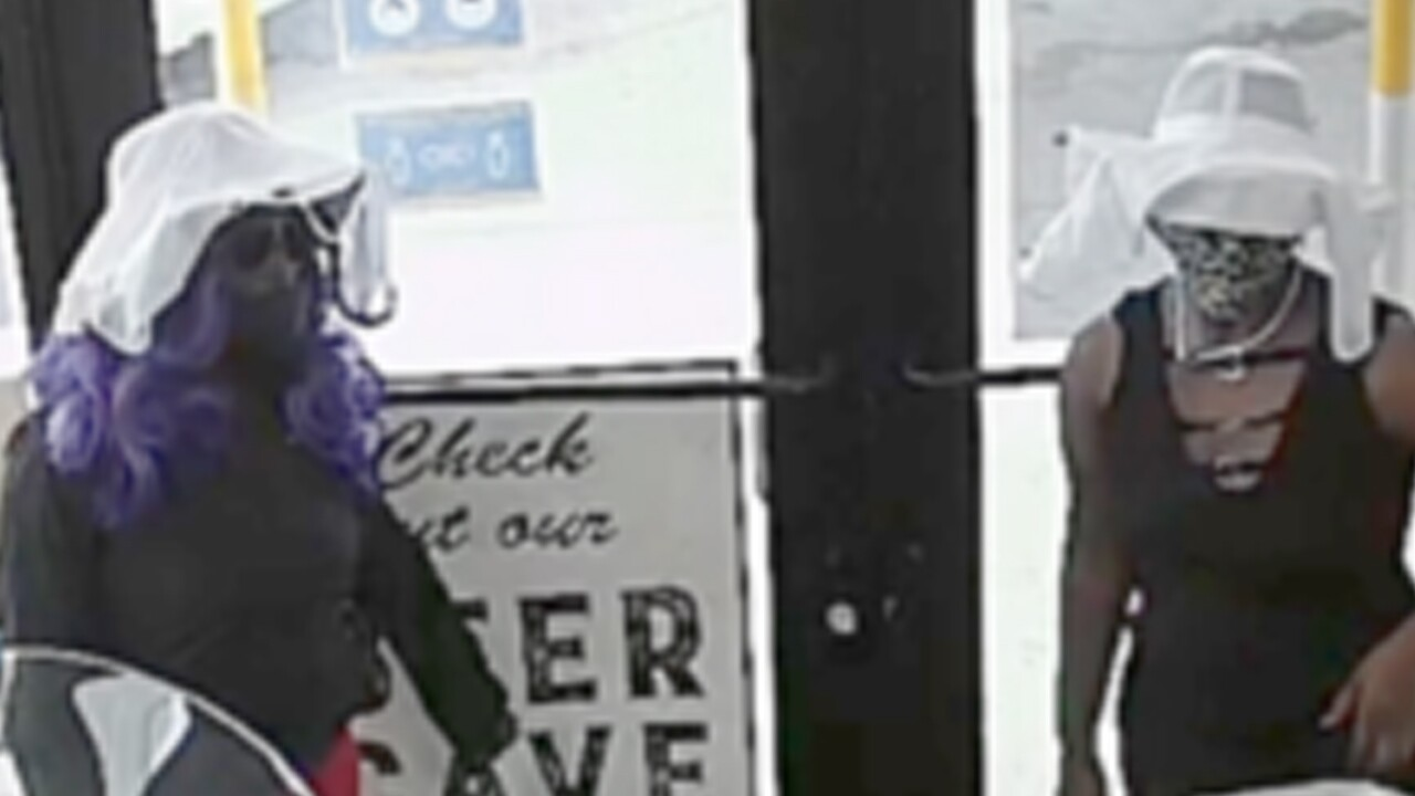 Two women, including one with purple hair, robbed a BP gas station in Fort Pierce on Aug. 28, 2020, according to police.
