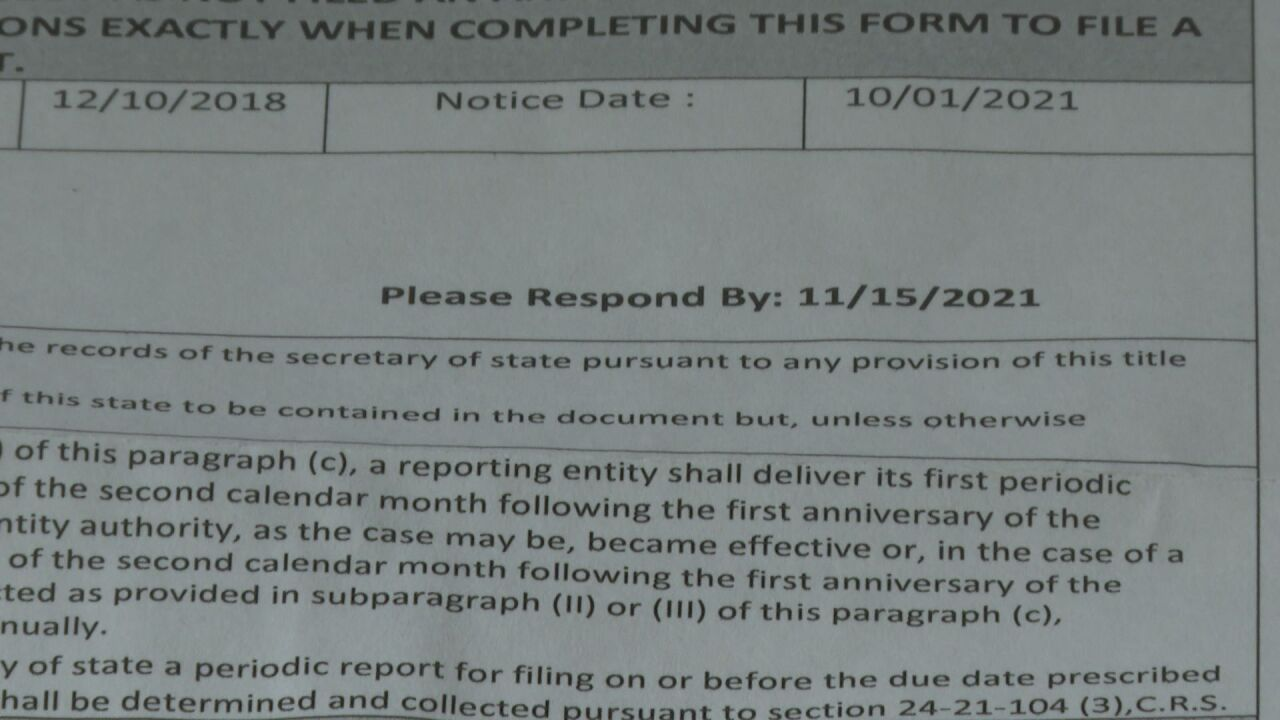 Misleading mailer targets small business owners with fee for filing state documents