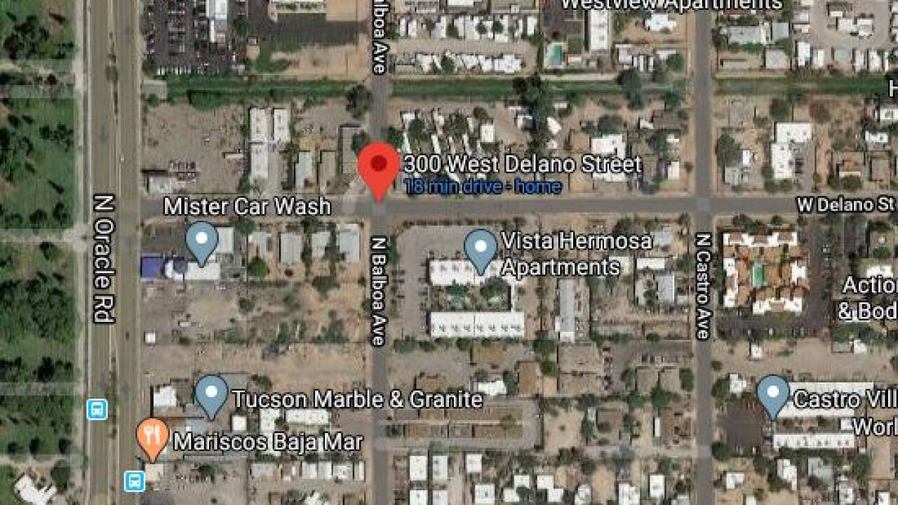 Tucson police say an armed domestic violence suspect is barricaded near Oracle and Fort Lowell.