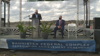bannister complex construction ribbon cutting