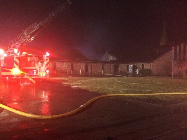 Middletown church fire ruled arson
