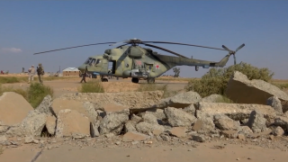 Russian helicopters land at Tabqa base in Syria