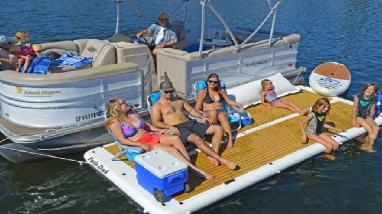 Amazon Is Selling A 10-Person Inflatable Patio Dock