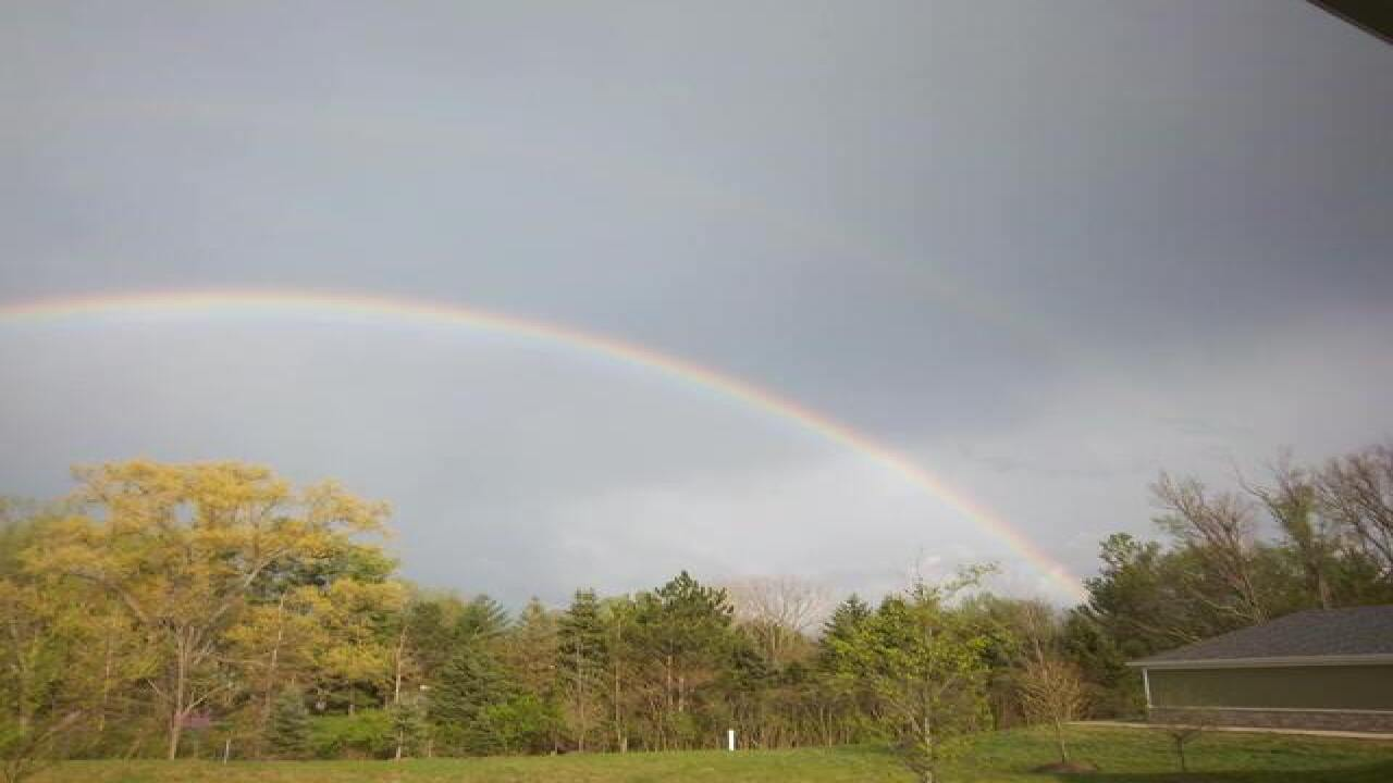 PHOTOS | Rainbows after storm on April 21