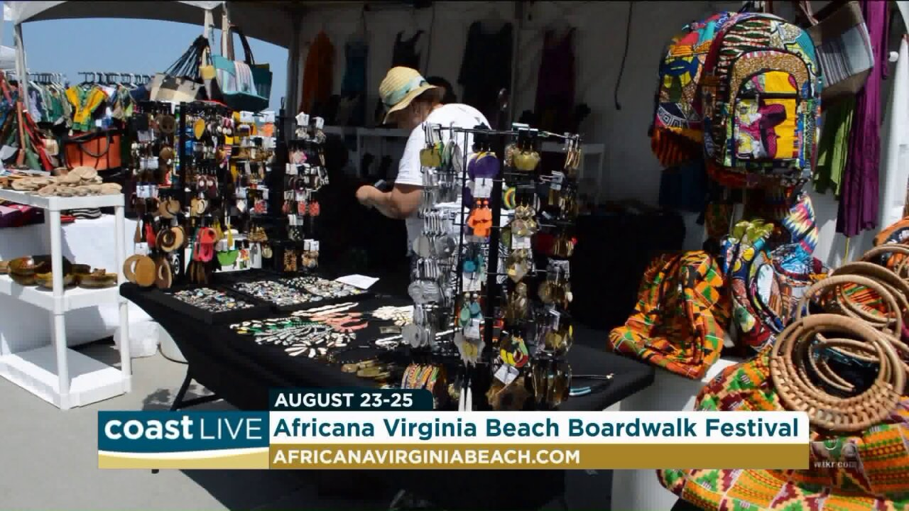Getting ready for the 7th Africana Virginia Beach Boardwalk Festival on CoastLive