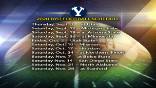 BYU releases 2020 football schedule