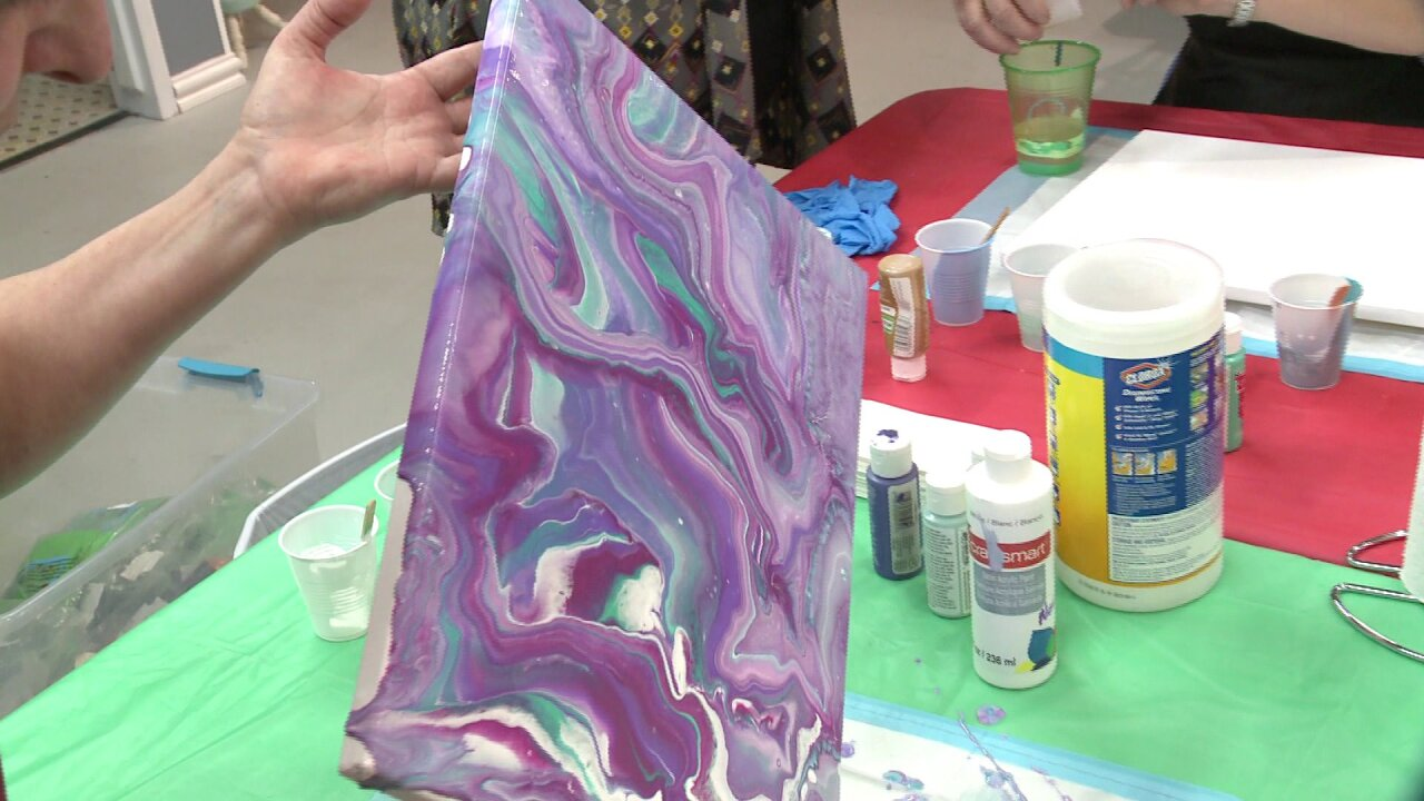 Local classes teach the art of 'pour painting,' an innovative way to create beautiful pieces