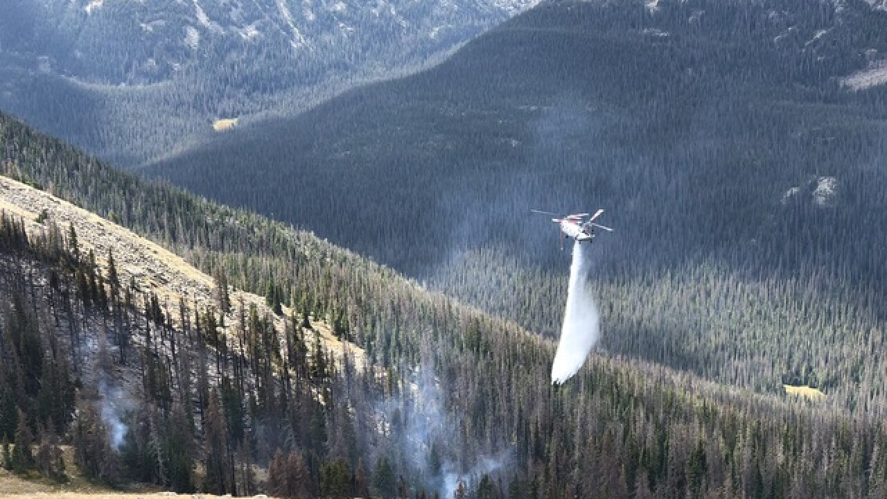 Fire crews make progress over weekend on two small Rocky Mountain National Park fires