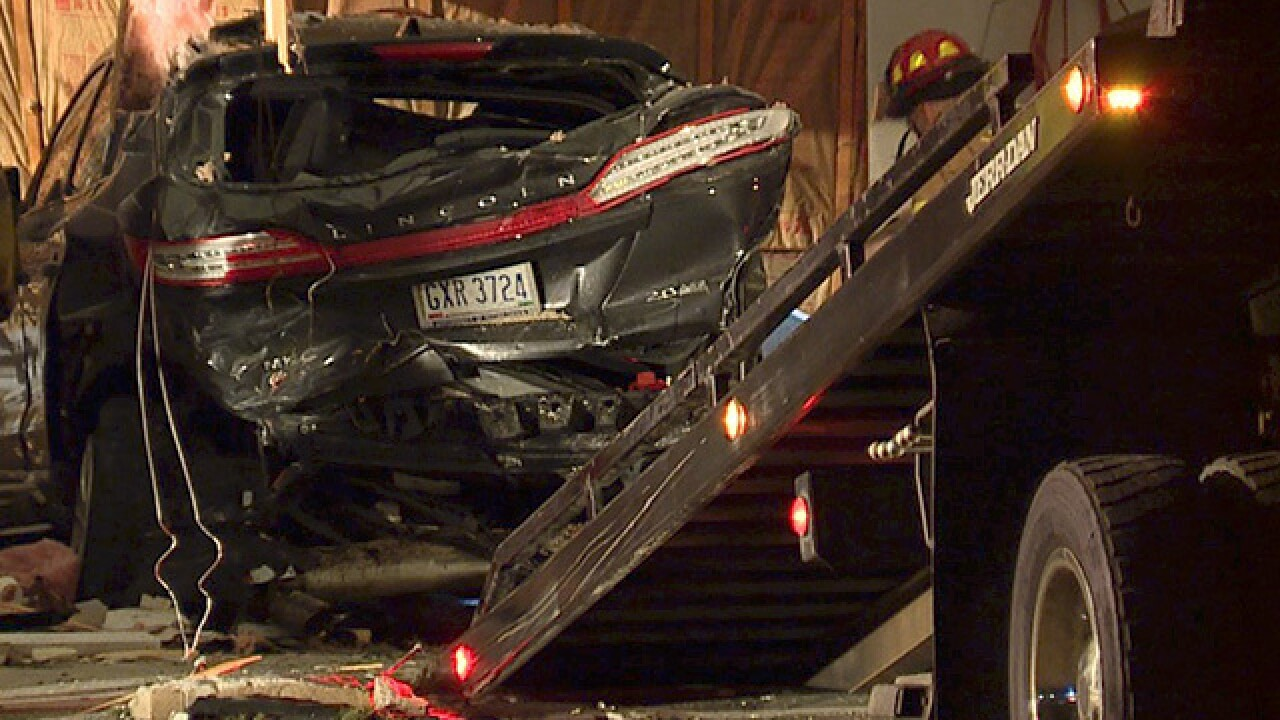 Driver crashes into Jackson Township home
