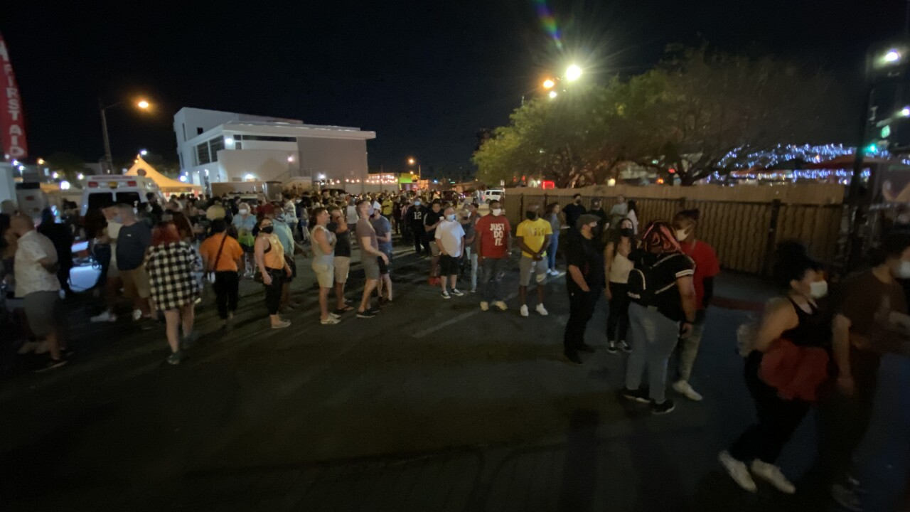 First Friday returned on April 2, 2021 for the first in-person event held since the COVID-19 pandemic forced a shut down after March 2020.