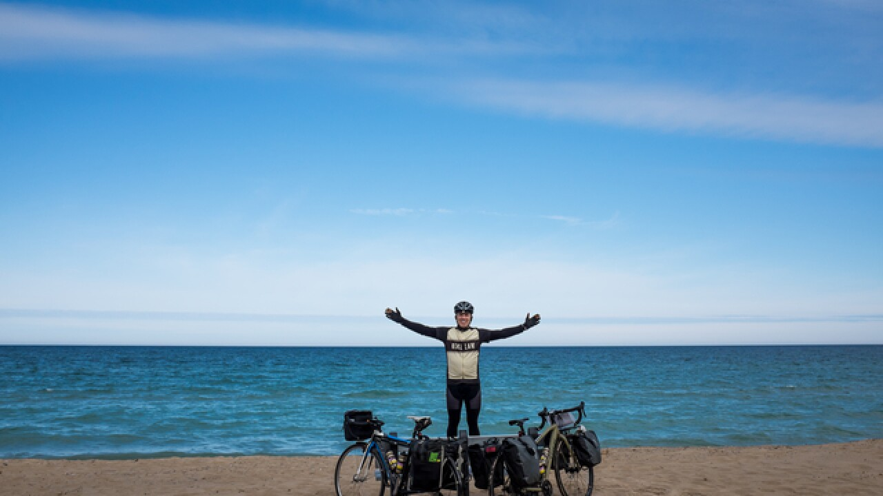 Attorney bikes 250 miles for Lids for Kids
