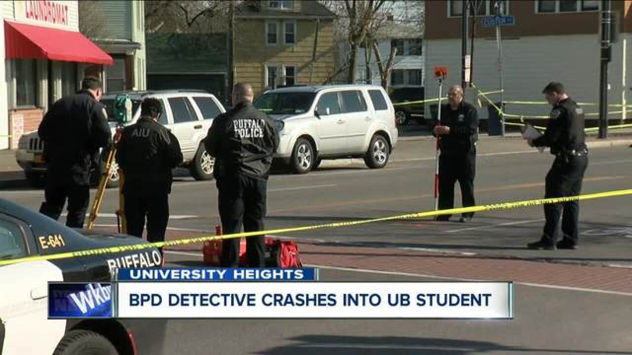 Detective hits pedestrian in University Heights