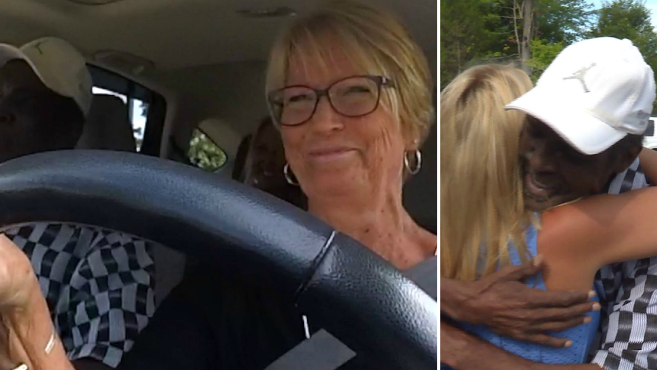 Tracy Sears surprises 3-time cancer survivor who volunteers to drive cancer patients to appointments