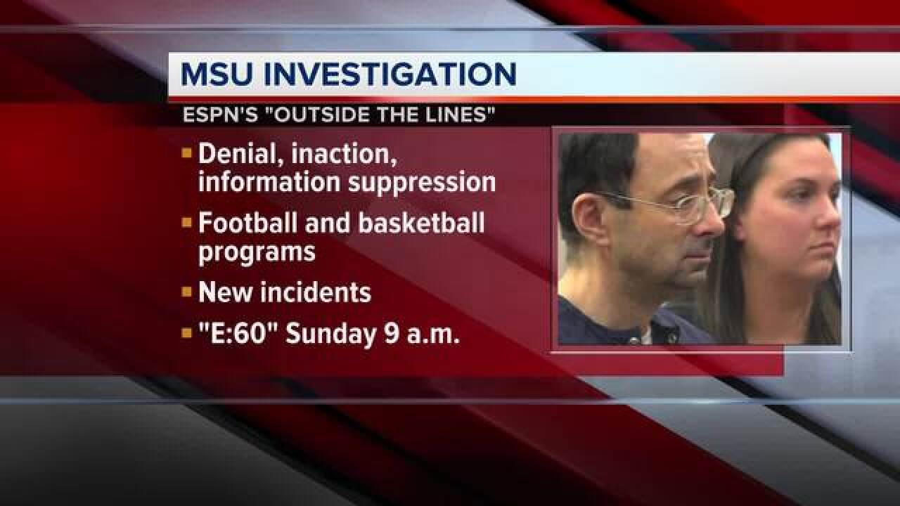ESPN: Sexual abuse at MSU goes beyond Nassar