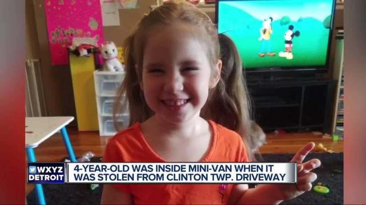 Police investigate theft of van w/ child inside