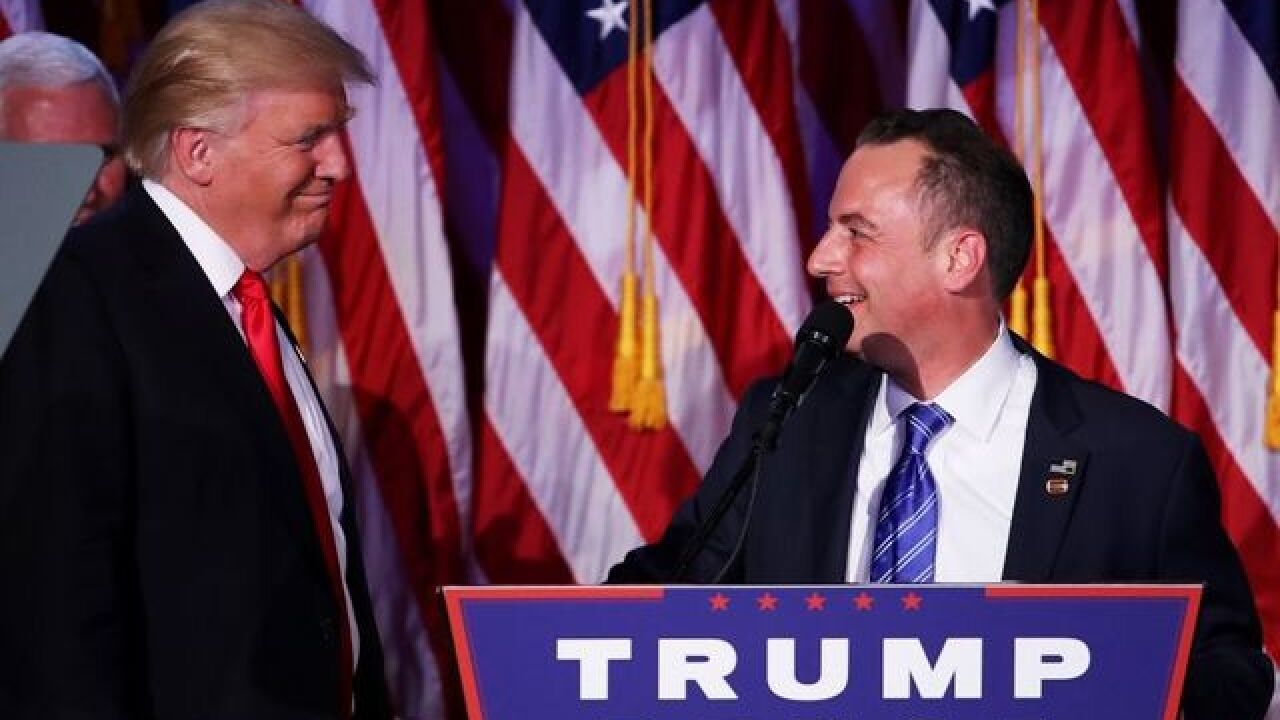 Priebus tapped as White House chief of staff